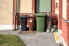 Wheelie bins Stock Images