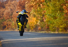 Wheelie on motorcycle Stock Image