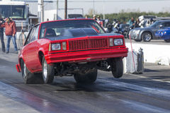 Chevrolet drag car wheelie Stock Photo