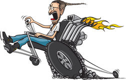 Wheelie-Stuhl lizenzfreies stockbild