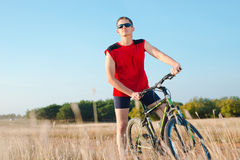 Wheelman велосипедиста Стоковая Фотография
