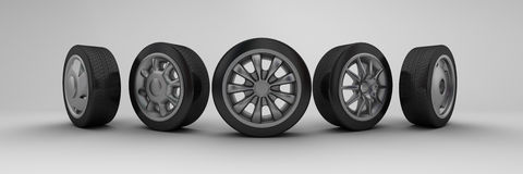 Wheels vector illustration
