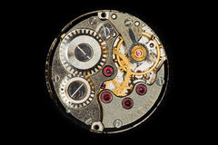 Wheels. View on the wheels and jewels in an antique watch Stock Photo