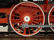 Wheels. Retro locomotive wheels (russian railway Royalty Free Stock Images