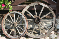 Wheels. Of an old carriage Stock Photos