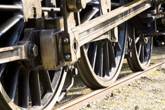 Wheels 2. Details of an old locomotive Stock Photo