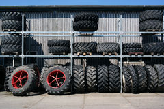 Wheels for agricultural machinery Stock Photo