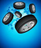 Wheels Background Stock Photo