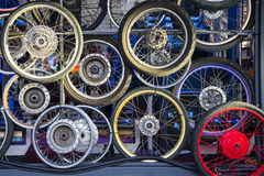 Wheels background Royalty Free Stock Photos