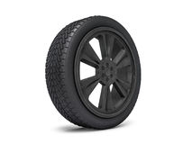 Wheels with blackened rim. 3D. Rendering Royalty Free Stock Images