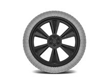 Wheels with blackened rim. Sketch. 3D. Rendering Royalty Free Stock Images