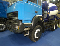 Wheels of blue truck Stock Photo