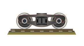Wheels and bogie. Part of the wagon.Vector illustration. EPS 10 stock illustration