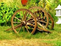 Wheels of a bullock cart Stock Photos