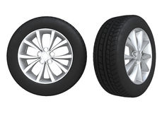 Wheels. Car wheels on white background Stock Photography