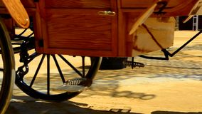 Wheels of a carriage in a fair, Jerez de la Frontera stock video footage