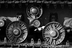 wheels and caterpillar tank Stock Images