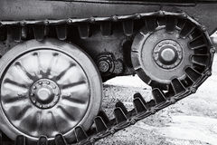 The wheels and caterpillars Royalty Free Stock Images
