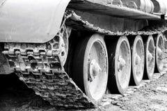 The wheels and caterpillars Stock Photo