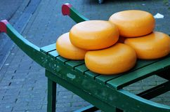 Wheels of cheese, Amsterdam, Holland Stock Photography