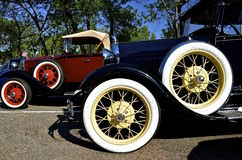 Wheels of a classic Ford car Royalty Free Stock Photography