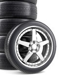 Wheels background Royalty Free Stock Photo