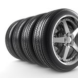 Wheels side by side Royalty Free Stock Photography
