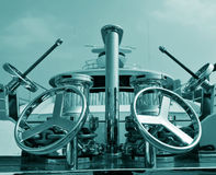 Wheels on deck Stock Photography