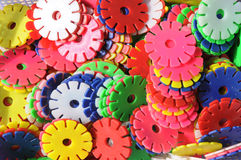 Wheels of different contrast colors Royalty Free Stock Photos