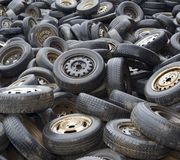 Wheels on dump Royalty Free Stock Images
