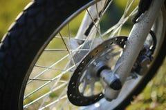 Wheels of enduro Stock Photos