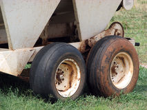 Wheels On Farm Equipmen Stock Photo