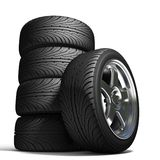 Wheels For The Sports Car Royalty Free Stock Image
