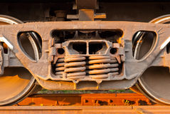 Wheels freight train photographed from close distance Royalty Free Stock Images