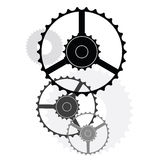 Wheels and gears Royalty Free Stock Image