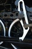Wheels and gears of antique steam train engine Royalty Free Stock Images