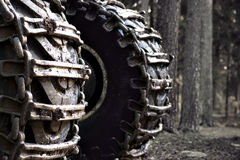 Wheels of heavy vehicle Royalty Free Stock Photos