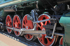 Wheels of the locomotive Royalty Free Stock Image