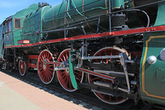 Wheels of the locomotive Stock Photo