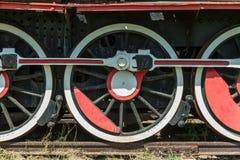 Wheels of Locomotive Stock Photos