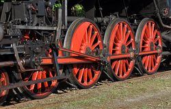 Wheels for locomotives Royalty Free Stock Photo