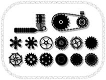 Wheels and mechanisms Stock Photos
