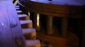 Wheels of a mill stock footage