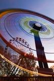 Ferris Wheels Motion. Illuminated Ferris Wheels Motion Night Stock Photos