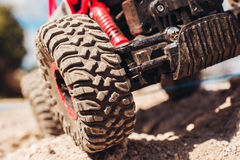 Free Wheels Of Off Road Car On Rock Landscape, Close-up Stock Photography - 81066452