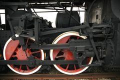 Wheels of the old locomotive Royalty Free Stock Image