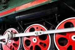 The Wheels  of an old locomotive Royalty Free Stock Images