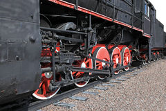 The wheels of an old steam engine Royalty Free Stock Image