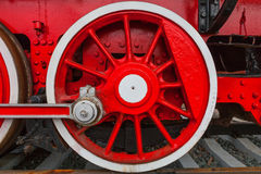 The wheels of the old steam train Royalty Free Stock Photos