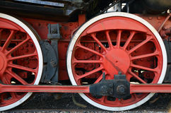 Wheels of and old steam train Stock Image